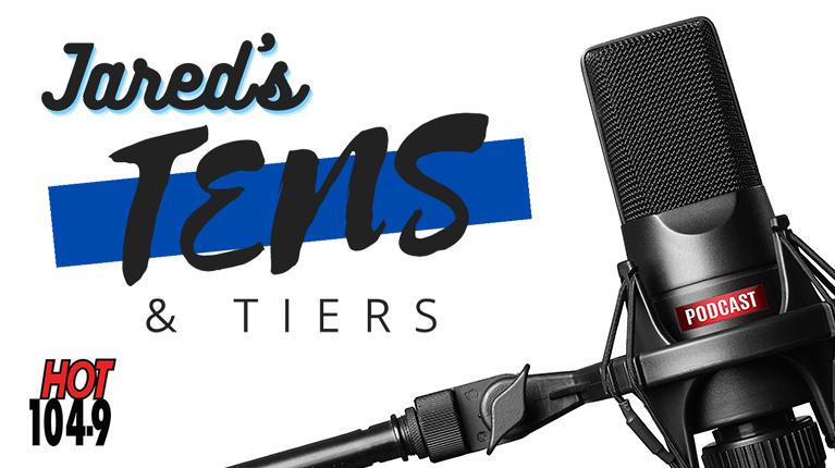 Jared's Tens & Tiers